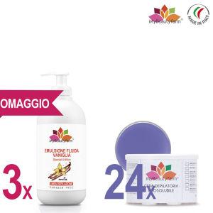 EMULSIONE FLUIDA VANIGLIA 500 ML special edition OMAGGIO+24VASI