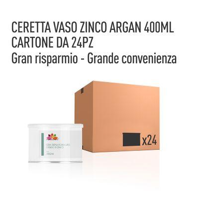 CERETTA ZINCO OLIO ARGAN VASO 400 ML- CONFEZIONE DA 24 PEZZI