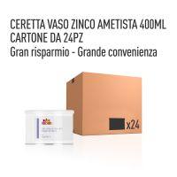 CERETTA ZINCO AMETISTA VASO 400 ML- CONFEZIONE DA 24 PEZZI