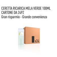 CERETTA MELA VERDE RICARICA 100 ML- CONFEZIONE DA 24 PEZZI